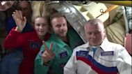 Russian crew wrap up their first film in space