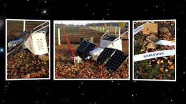 Did Samsung's space selfie phone and satellite crash onto American backyard?