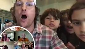 Matthew McConaughey and his family plays some virtual bingo