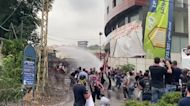 Security forces fire water cannon at protesters outside US embassy in Beirut