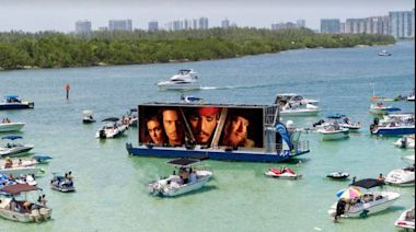 There's a new drive in movie theater on Biscayne Bay: Be sure to bring your boat