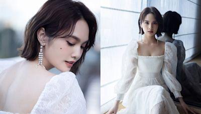 楊丞琳著白紗裙嗌唔慣做小仙女