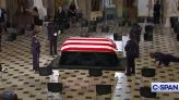 RBG's Trainer Says His Final Goodbye With Pushups Next To Her Casket