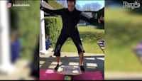Brooke Shields shares photos of accident that broke her right femur at gym