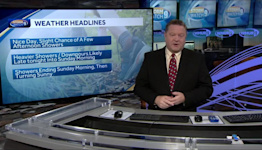 VIDEO: Showers and downpours Saturday night