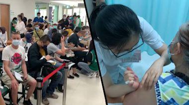 【社區風暴】台中醫院搶打疫苗如菜市場 現有疫苗一周內打完   蘋果新聞網   蘋果日報