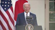 President Joe Biden talks about gun laws and mass shootings