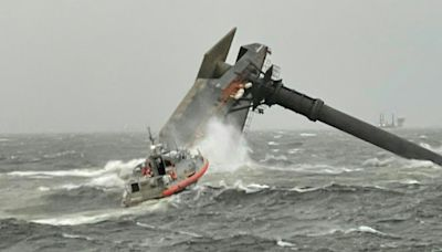 One dead, 12 missing after ship capsizes off southern US coast
