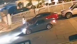Video appears to shows man force woman into car in Bell Gardens
