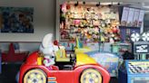 A new Chuck E. Cheese children's ride but no one to ride it
