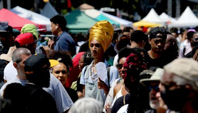 South L.A.'s Leimert Park honors Juneteenth with a bustling festival and a reopened park