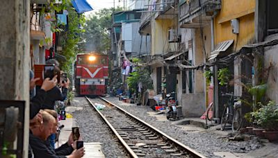 Crackdown on Hanoi's Insta-famous 'train street' after near-miss with tourist