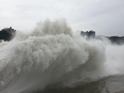石門水庫集水區颱風雨豐沛 調節排洪最高超過1千立方