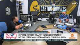 Reacting to Yankees not bringing back coaches Phil Nevin, Marcus Thames   Carton & Roberts