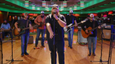 Luke Combs Plays 'Lovin' On You' in an Empty Roller Rink on 'Fallon'