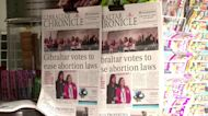 Gibraltar votes to ease strict abortion ban