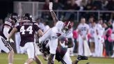 No. 5 Alabama rebounds from loss to rout Mississippi St 49-9