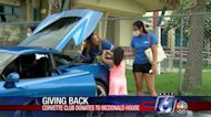 RMH receives 1K donation from Corvette Club