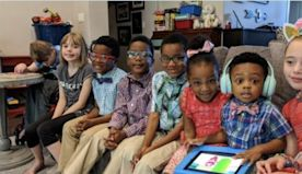 Texas couple adopts 5 siblings separated in foster care so they can grow up together