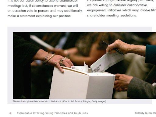 富達擴充永續投資投票指引 推動企業落實社會責任 - 自由財經
