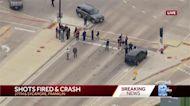Report of shots fired, crash at Franklin/Oak Creek border