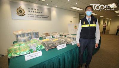 【打擊毒品】海關檢獲近百公斤毒品市值近5,500萬元 拘1男1女包括1名15歲男學生 - 香港經濟日報 - TOPick - 新聞 - 社會