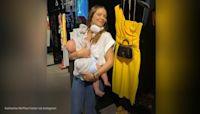 Katharine Foster shared photo breastfeeding son while shopping