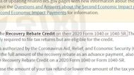 Missing stimulus check? What to know about the Recovery Rebate Credit