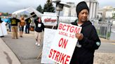 On Kellogg's picket line, workers snap and tensions crackle