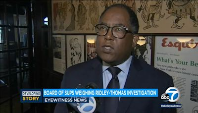 Supervisors call for investigation into Ridley-Thomas charges