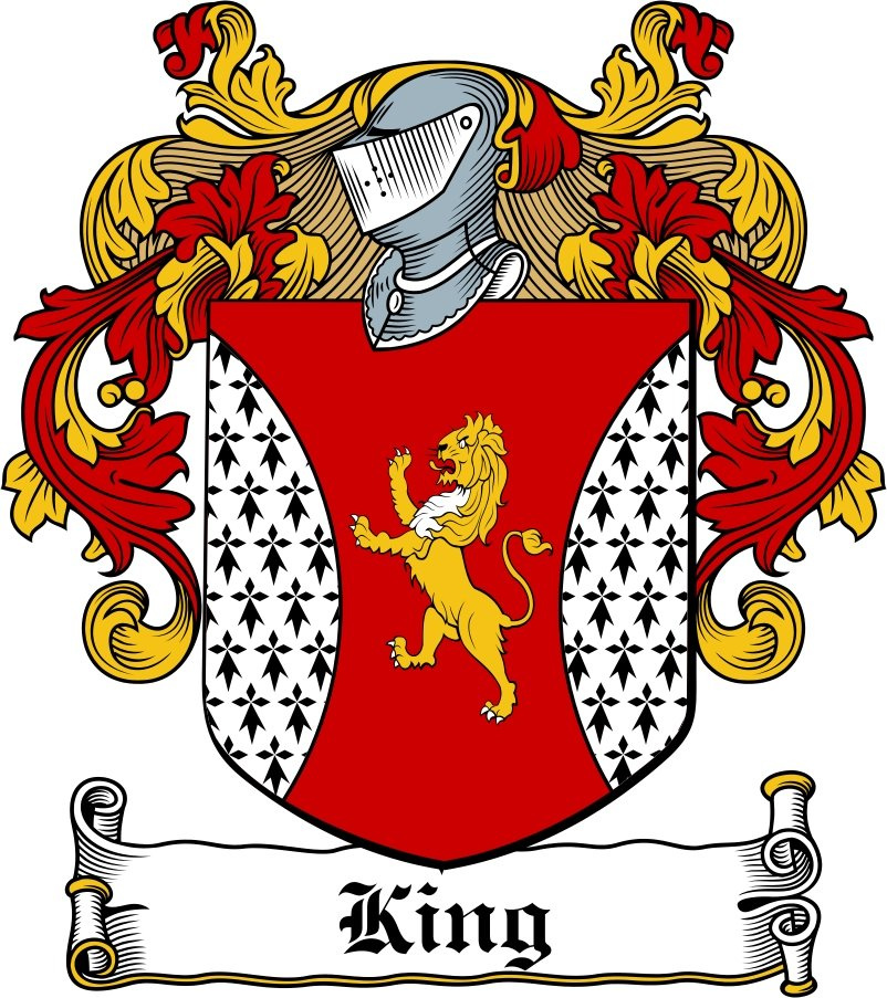 Pay for King Family Crest / Irish Coat of Arms Image Download