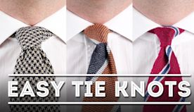 3 Easiest Tie Knots for Beginners - Step-By-Step Instruction - Works Guaranteed