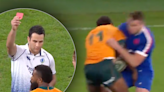 WATCH: Insane Wallabies send-off against France called 'absolute travesty'