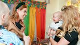 Royal Mom-to-Be Princess Beatrice Gets a Gigantic Grin from a Bowtie-Bedecked Baby During Charity Outing