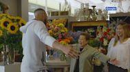 Warriors star visits 'sassy senior' florist in new Google video