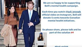Harry and Meghan promote a mental health initiative