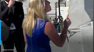 Rep. Marjorie Taylor Greene verbally spars with Rep. Dingell and Democrats over abortion outside the Capitol