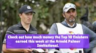 How much money the Top 10 PGA Tour players won at the Arnold Palmer Invitational