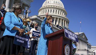 Nancy Pelosi: Democrats will pass $1tn infrastructure deal this week