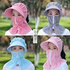 (買6送1)防曬口罩女護頸戴帽子騎車薄款防紫外線遮臉全臉可水洗遮陽透氣