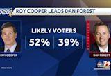 North Carolina Gov. Roy Cooper, Lt. Gov. Dan Forest spar in only gubernatorial debate Wednesday night