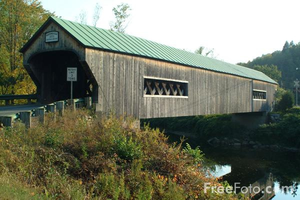 Covered Bridge pictures, free use image, 11-01-18 by FreeFoto.com