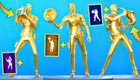FORTNITE DANCES LOOKS BETTER WITH GOLD MIDAS SKIN! (Chapter 2 - Season 2)