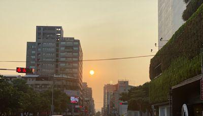 影/中市難得一見懸日現象 紅紅火火太陽絕美畫面