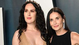 Demi Moore and Rumer Willis turned the Oscars after-party into a stylish mother-daughter date with sparkling and sheer gowns