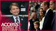 Prince George Looks Dapper With Kate Middleton & Prince William At Euro 2020 Championship Final