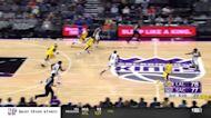 LeBron James with a dunk vs the Sacramento Kings