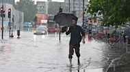 Watch: London streets flood amid heavy rain and thunderstorms