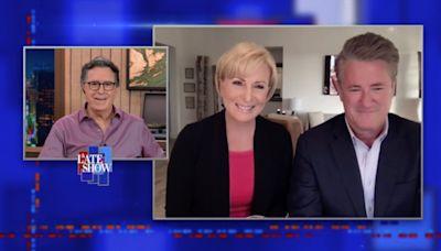 Stephen Colbert Grills Joe Scarborough and Mika Brzezinski on 'Fascist' Republicans