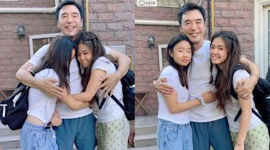 鍾鎮濤疫情北上開工同女兒分隔近半年 終團聚見面興奮到左擁右抱